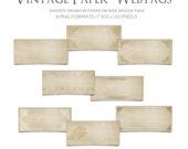 Website Design- Vintage Paper Promo Tags