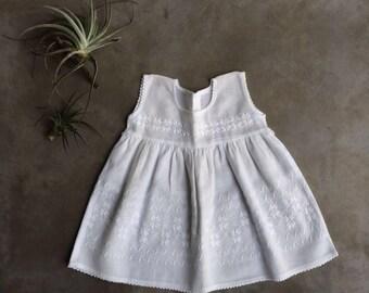 Whimsical Play Dress- Blanco