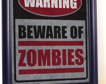 Zombie Bathroom Signs zombie decor | etsy