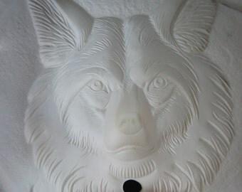 Southwestern night light, Southwestern decor, Wolf night light, Indian wolf light, wolf nite lite, ready to paint, ceramic bisque,u-paint
