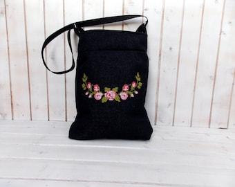 Pink Olive needlepoint rose  Bohemian tote bag Canvas bag  crossbody, shoulder bag, folk embroidered bag, market tote bag, Hungarian folk