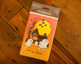 Vintage Halloween Party Invitations - Be Our Ghost