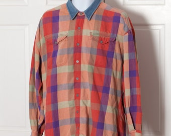 90s Men's Chill Button Shirt - ARIZONA - XL