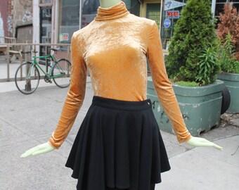 1990s Vintage Versace Black Layered Mini Skirt Small