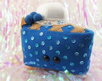 Sequined Blueberry Pie a la Mode