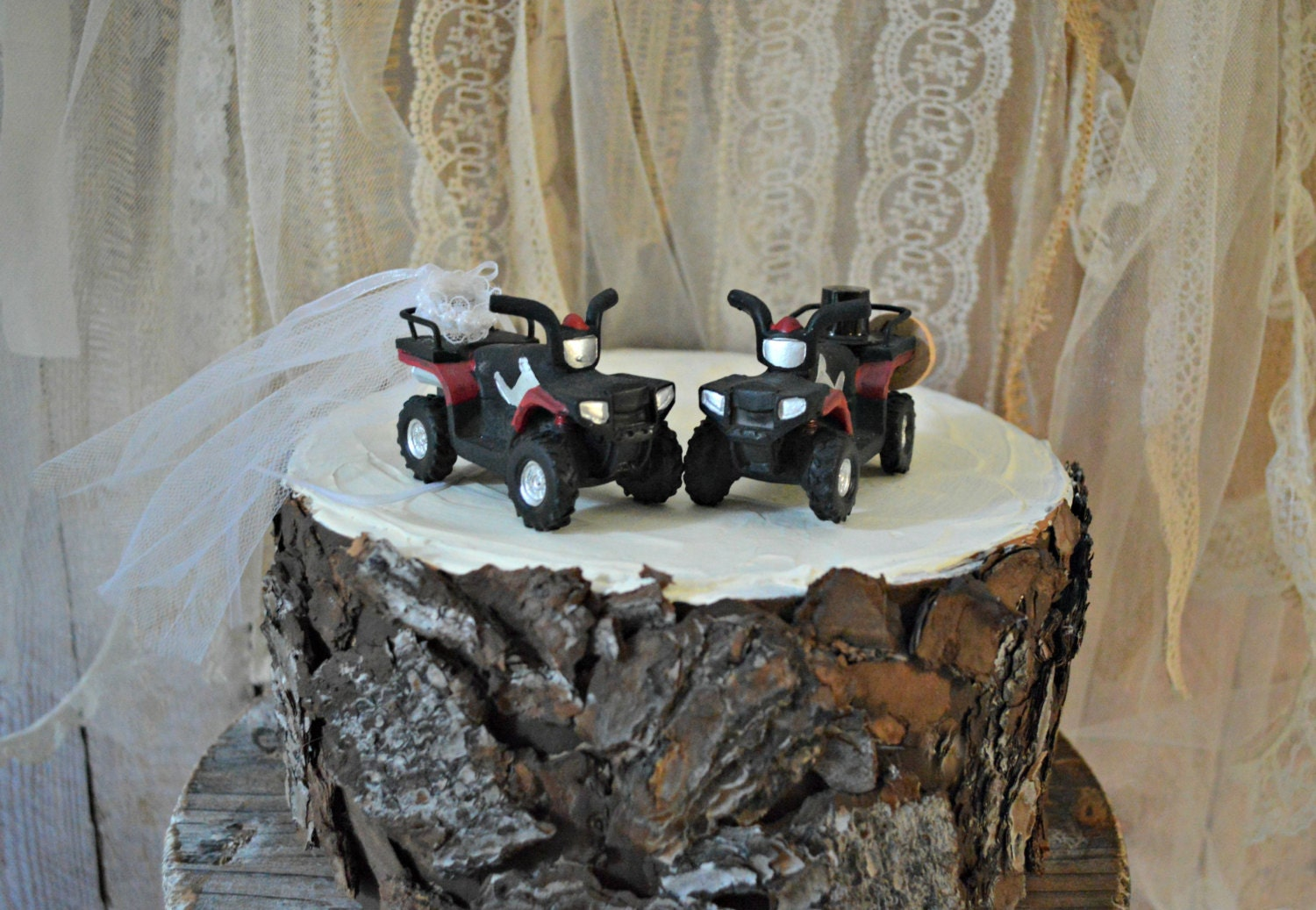 4 wheeler wedding cake topper four wheeler country redneck