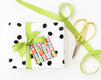 Christmas Gift Tags Cute Holiday Tags Hand Lettered Christmas Party Favor Tags Paper Gift Tags Colorful Fa La La La Christmas Gift Wrap