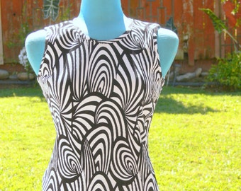 black and white blouse size small