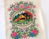 Crewel Embroidery Vintage Needlework Retro Wall Art