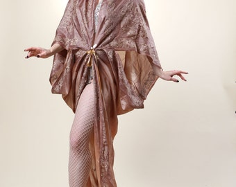Brown Printed Gown