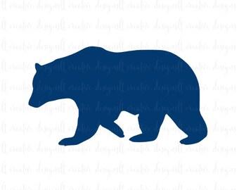 Bear SVG, Bear Silhouette, Bear Monogram SVG, SVG Files, Silhouette Files, Cricut Files
