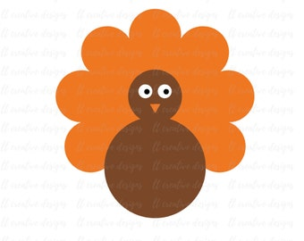 Turkey SVG File, Thanksgiving SVG, SVG Files, Turkey Clipart, Thanksgiving Png, Silhouette Files, Cricut Files