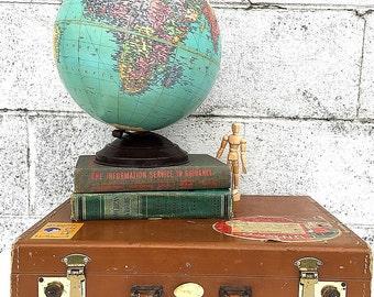 WORLD GLOBE | Vintage (c.1946-1947) Replogle 10-inch Diameter Precision Globe | Mid-Century Desk Globe | 1940's Globe | USSR | Cold War