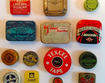 VINTAGE TINS: 14 Tins for an instant collection with FREE Shipping
