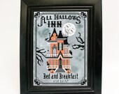 Halloween Cross Stitch Pattern Haunted House Embroidery Download