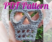 INSTANT DOWNLOAD Crochet Skull Pattern Applique Scarf Patch Garland