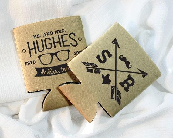 Hipster Wedding Favors Arrows Monogrammed
