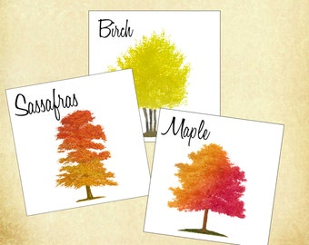 Autumn Tree Table Cards, Autumn Tree Numbers, Autumn Wedding Table Cards,  Autumn Fall Event, Harvest Table Card, Fall Table Numbers.  AT101
