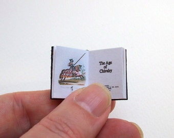 Dolls' House Miniature Book - The Age of Chivalry (leather bound)