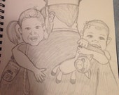 """Custom """"Safe in Daddy's Arms"""" Painting"""