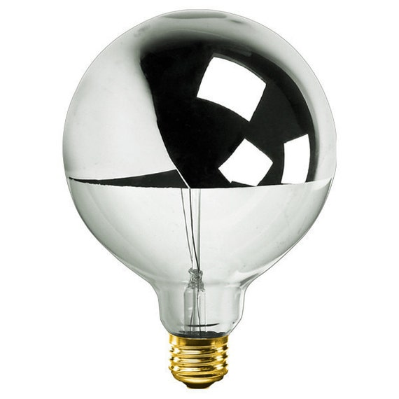 Silver Dipped Light Bulbs In 3 Sizes