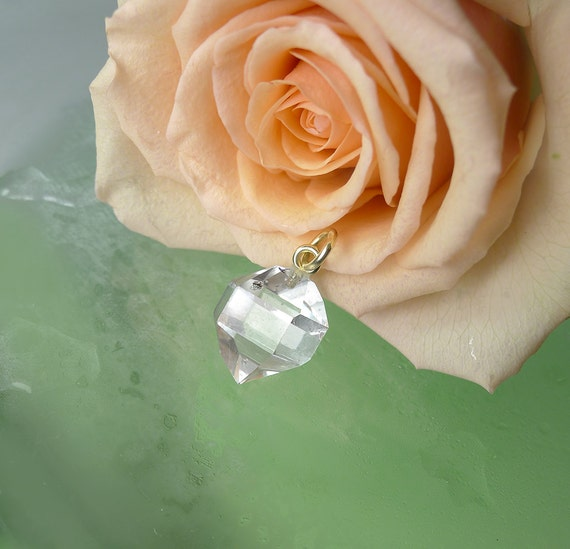 Herkimer Diamond Natural Crystal Pendant