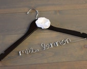 Wire Name Hanger, Wedding Dress Hanger, Personalized Hanger, Bride Hanger, Wedding Day Hanger,  Engagement Gift, Bridal Gown Hanger