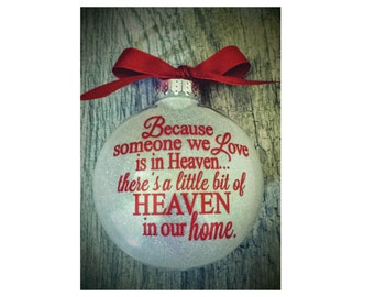 Memorial Christmas Ornament with Name on Back