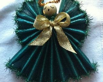 Angel Ornament, 5 Inch Handmade Rich Teal,Tall Angel Ornament