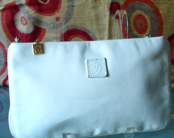Anne Klein For Calderon White Clutch