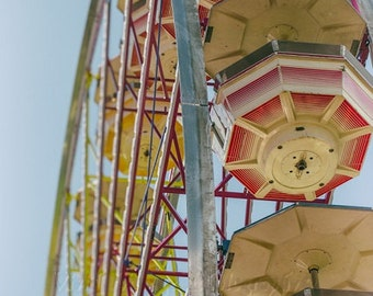 Ferris Wheel Photo, Fair Photography, Carnival Ride Photo, Retro Home Decor, Summer Time Art, Childrens Room Decor, Ferris Wheel Art