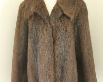 Vintage Womans Coat Furs Up at Alexander's