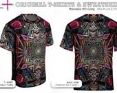 Mandala HD Greg : T-Shirt / Sweatshirt * Full-print (on 2 sides) * original art * Best Print Quality ( cotton inside + polyester outside )