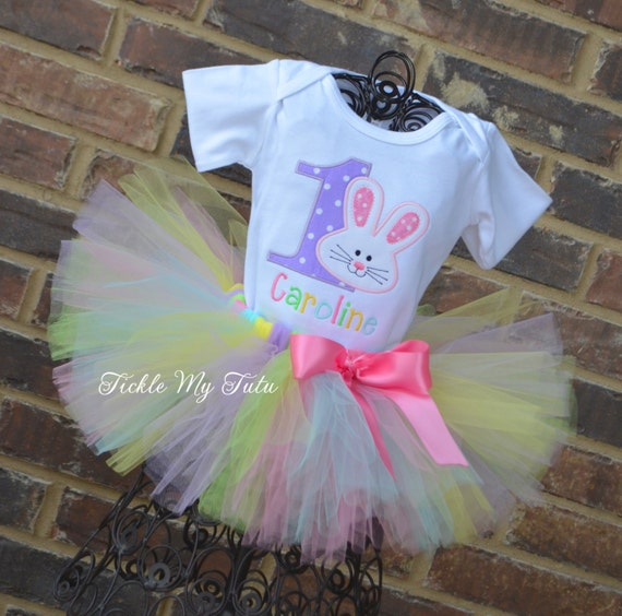 Little Bunny Birthday Tutu Outfit Some BUNNY Is One Any