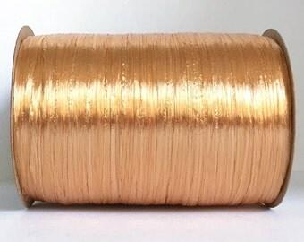 Gold Raffia Ribbon - 30/100 yards - 1/4 inch wide