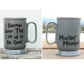 Coffee Mug DECAL Set I Solemnly Swear That I Am Up to No Good & Mischief Managed Diy Coffee Mug idea, Stocking Stuffer, Gift Under 30