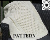 Cable Knit Honeycomb Stitch Baby Blanket Pattern *INSTANT DOWNLOAD*
