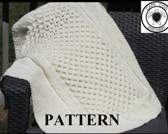Knitting Pattern Blanket, Knitting Pattern, Cable Knit, Aran Knit, Worsted Weight,  Knitting Chart Included, **Instant Download**