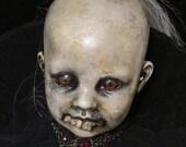 REDUCED FOR HALLOWEEN!!! Penny Dreadful Original Disturbingly Dark Altered Art Doll Haunted?Scary Oddity/Detroit Artist L.Cerrito