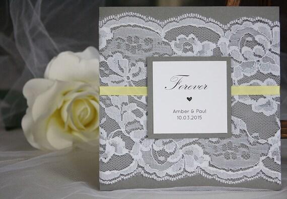 Yellow Grey Wedding Invitations: Grey And Yellow Wedding Invitations Lace Wedding By