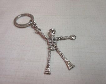 Swarovski Crystal Skeleton Key Chain