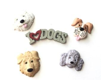 Dog Magnets, Dog faces, Puppies, I Love Dogs, Thumb Tacks, Pushpins