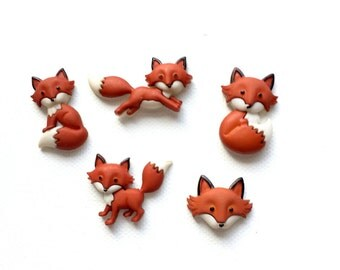 Fox Magnets, Cute Foxes, Red Fox, Forest Animals, Kawaii Fox, Fridge Magnets, Push Pins, Neodynium Magnets