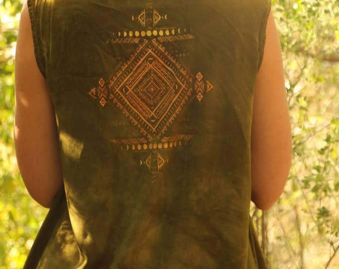 OLIVE Tribal MOONS Layering Vest