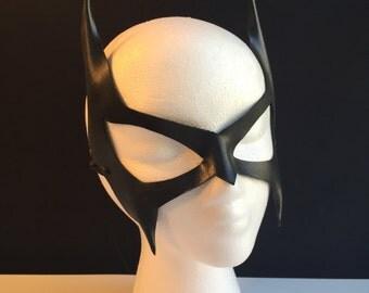 Catwoman mask Villian Cosplay Cat ears Superhero Mask Black Leather Batgirl mask Comicon Batman costume Wolverine Halloween Marvel hero BDSM