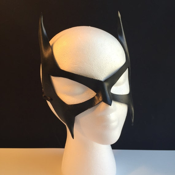 Catwoman mask Villian Cosplay Cat ears Superhero Mask Black