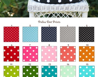 MADE TO ORDER Polka Dot Round Helmet Bag Many Colors