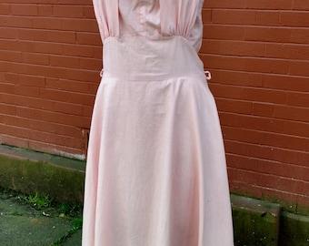 1950s Daisy Mae! Blush Halter Dress