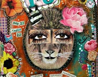 Lovely Leo art print