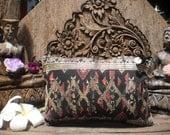 Vintage Lao Skirt Textile Purse